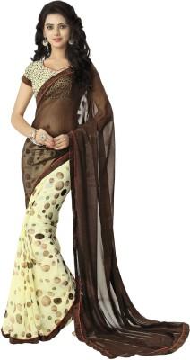 Myntas DXL Polka Print Fashion Georgette Sari