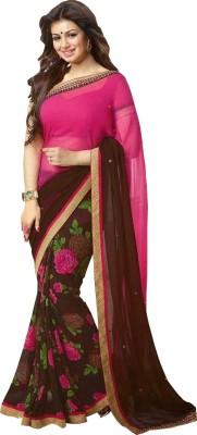 Fashionista Printed Fashion Handloom Georgette Sari