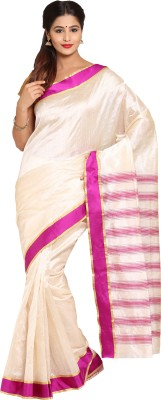 Satrang Solid Mysore Art Silk Sari