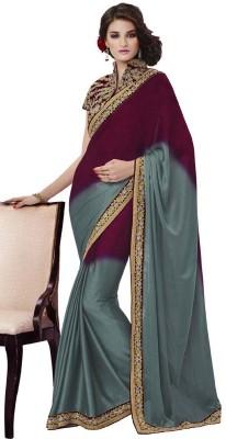 DesiButik Embriodered Fashion Satin, Jacquard Sari
