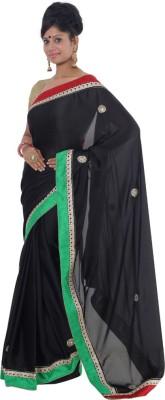 Vikrant Collections Embellished Bollywood Satin Sari