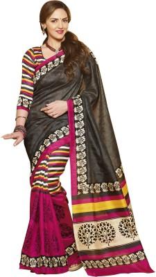 Abida Striped, Printed Daily Wear Art Silk Sari