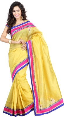 RG DESIGNERS Embriodered Fashion Jute Sari