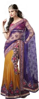 Moh Manthan Self Design Lehenga Saree Net, Georgette Sari