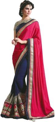 shreeji fashion Plain Fashion Georgette, Chiffon Sari