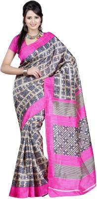 The Fancy Sarees Digital Prints Mysore Poly Silk Sari