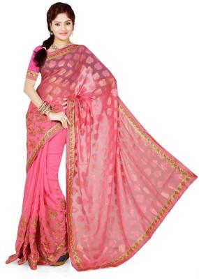 Roop Kashish Embriodered Bollywood Brasso, Georgette Sari