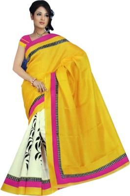 Anam Self Design Bhagalpuri Silk Sari