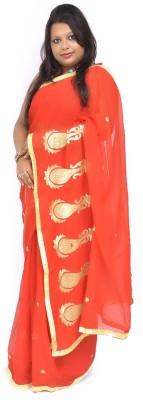 Gulmohaar Embriodered Bollywood Georgette Sari