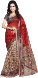 Luxuria Printed Daily Wear Net Saree (Re...