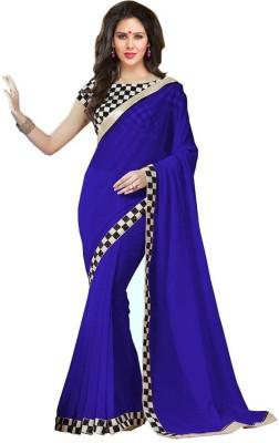 Fashion Gallery Embriodered Daily Wear Georgette, Silk Sari