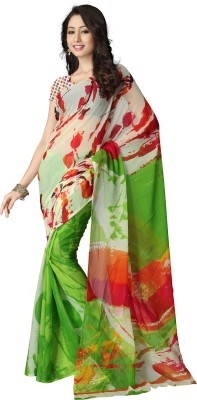 Kanya Floral Print Leheria Chiffon Sari