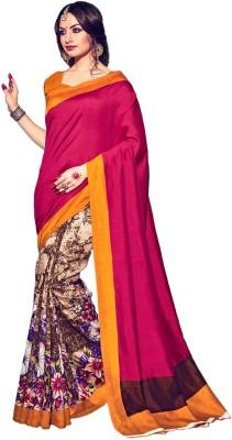 Zemi Floral Print Bhagalpuri Silk Sari