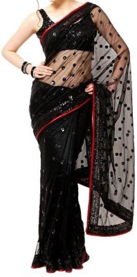 Dudhat Creation Embriodered Bollywood Printed Silk Sari
