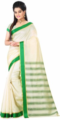Prachi Silk Mills Geometric Print Pochampally Cotton Sari