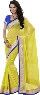 Amyra Self Design Fashion Georgette Sari