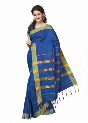 IVAANA Solid Kanjivaram Art Silk Sari