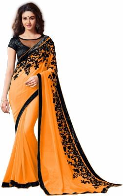 Suvidha Fashion Embriodered Daily Wear Chiffon Sari