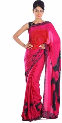 Geroo Embellished Fashion Pure Crepe Sari