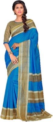 Design Villa Printed Bollywood Silk Cotton Blend Sari