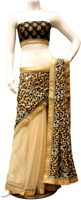Charming Animal Print Fashion Georgette Sari