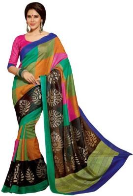 Jhalak Fashion Printed Bhagalpuri Cotton Sari