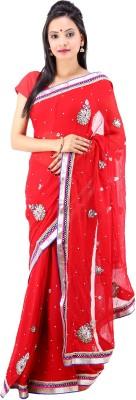 Laxmi Kripa Printed Fashion Handloom Georgette Sari