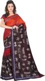 Yehii Animal Print Fashion Art Silk Sare...