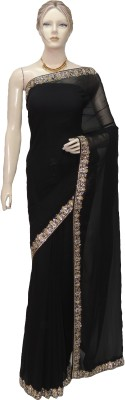 Veena Saree Embriodered Fashion Georgette Sari