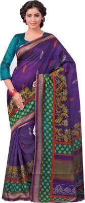 Urban Vastra Animal Print Bhagalpuri Dupion Silk Sari