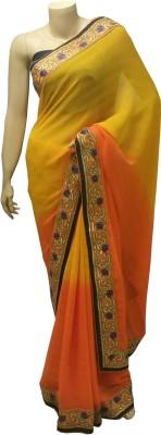 BEAUVILLE VAIIBAVAM Embriodered Fashion Chiffon Sari