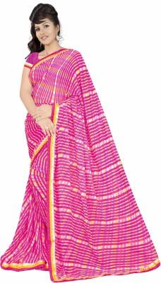 Simran Fashion Printed Fashion Handloom Synthetic Chiffon Sari