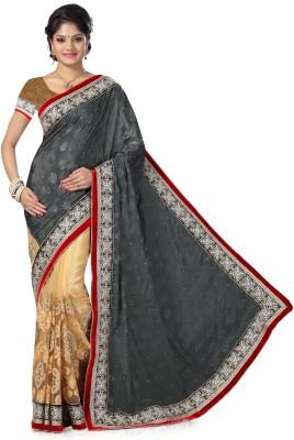 Preeti Solid, Self Design Bollywood Chiffon, Jacquard, Net Sari