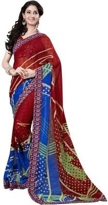 KAAMIRI Printed Fashion Chiffon Sari