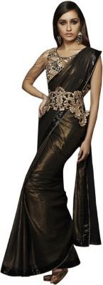Aarrahh Self Design Bollywood Handloom Chiffon Sari