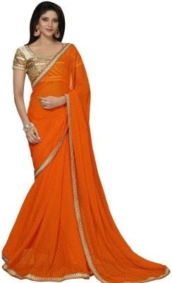 Lady Berry Embriodered Fashion Handloom Georgette Sari
