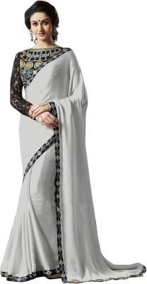 Onlinefayda Embriodered Daily Wear Satin Sari
