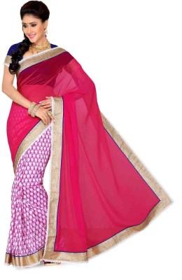 Ayushi Apparel's Embellished Bollywood Raw Silk, Chiffon Sari