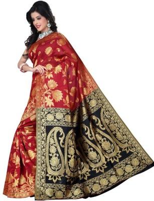 Ruaab Fashion Solid Fashion Silk Sari