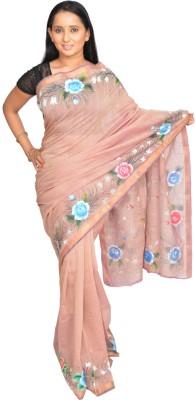Siri Arts Floral Print Mangalagiri Handloom Cotton Sari