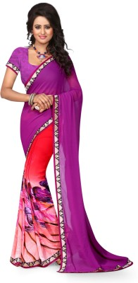 fashion web Printed Bollywood Georgette Sari