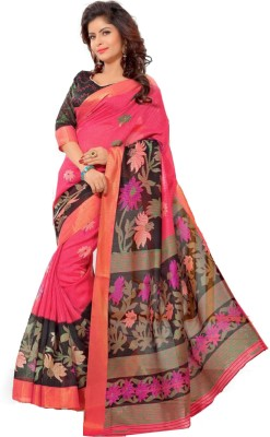 Chirmangal Floral Print Fashion Art Silk Sari