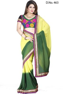 Maruti Fashion Solid Bollywood Georgette Sari