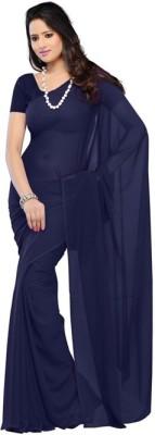 Anju Sarees Plain Fashion Chiffon Sari