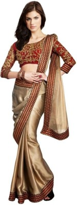 Godavari Fashion Hub Embriodered Chanderi Georgette Sari