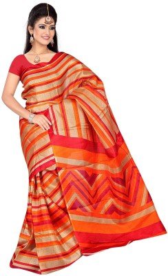 DFTZ Striped Bhagalpuri Silk Sari