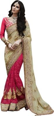 Colour Trendz Self Design Bollywood Brasso Sari