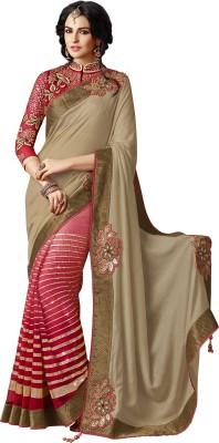 Moh Manthan Self Design Fashion Net, Satin Sari