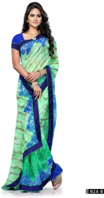 Craze N Demand Printed Fashion Chiffon Sari