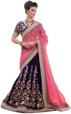 Krisha Fashion Embriodered Bollywood Net Sari